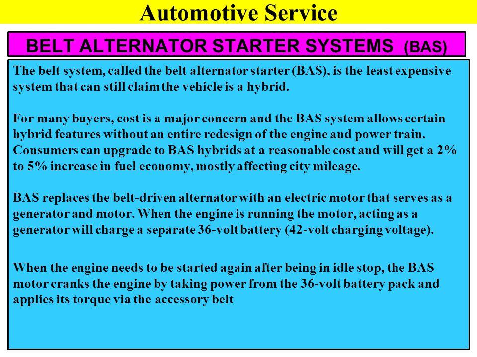BELT ALTERNATOR STARTER SYSTEMS (BAS)