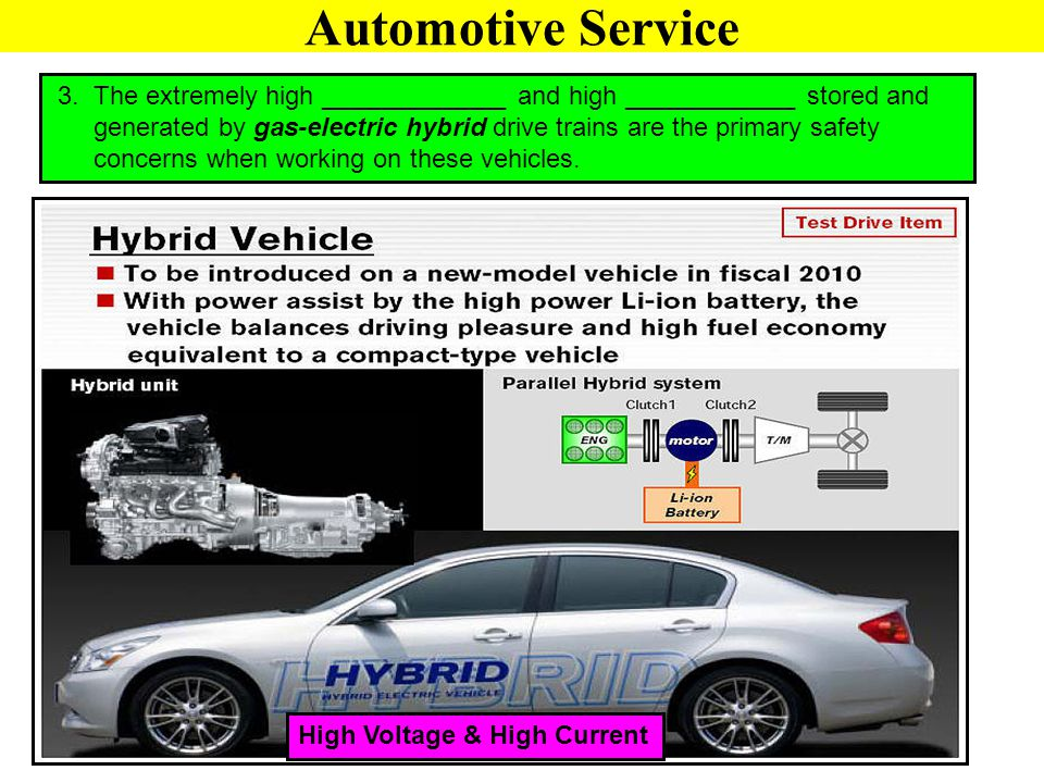 Automotive Service 3. The extremely high _____________ and high ____________ stored and.