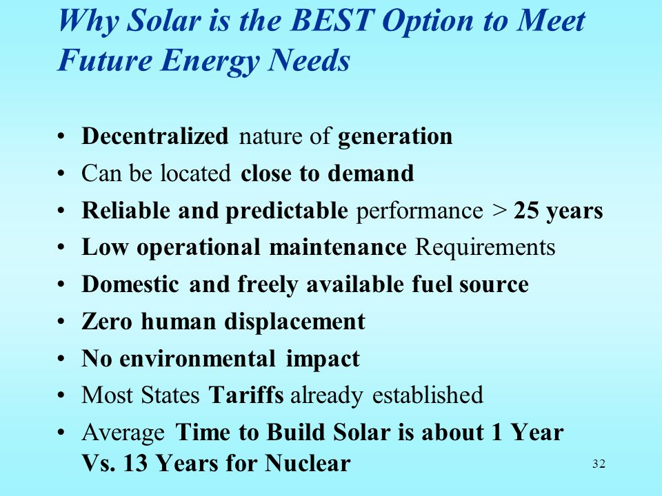 Why Solar is the BEST Option to Meet Future Energy Needs