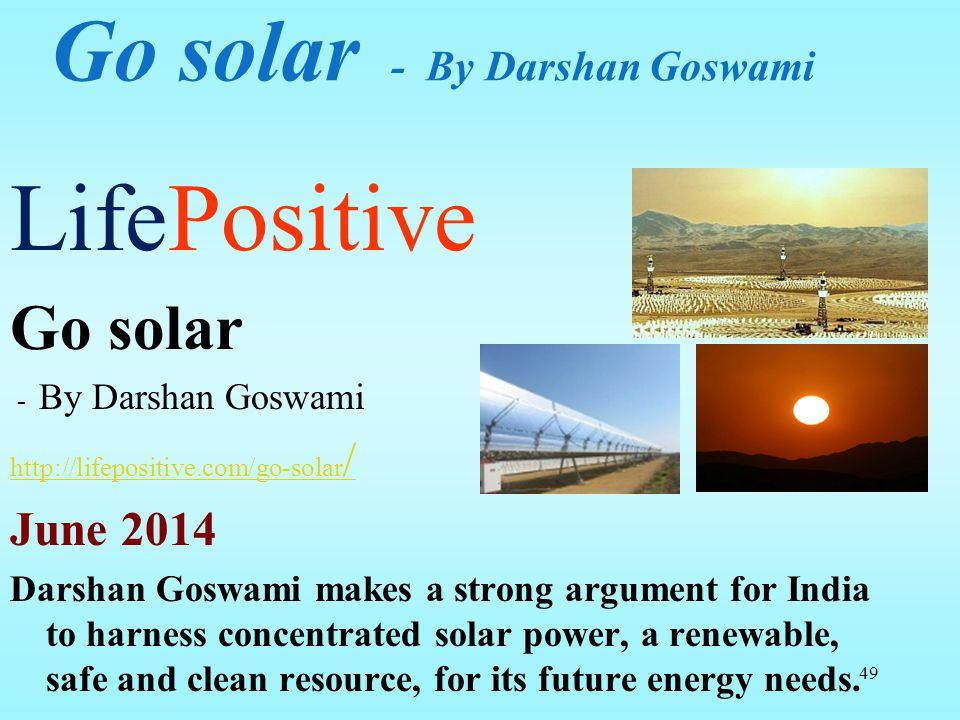 Go solar - By Darshan Goswami
