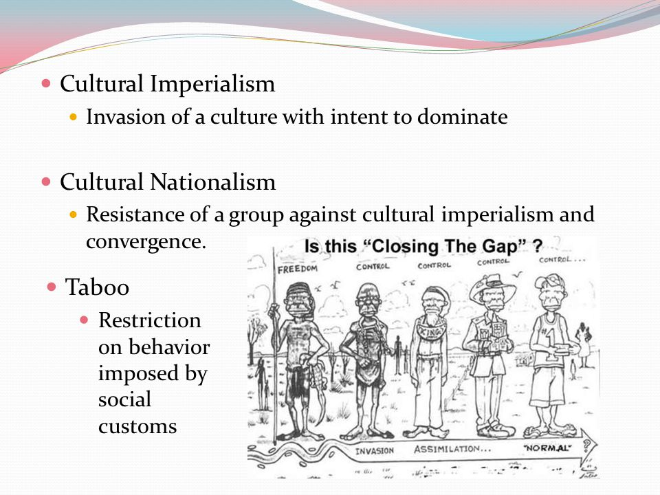 Cultural Imperialism Cultural Nationalism Taboo