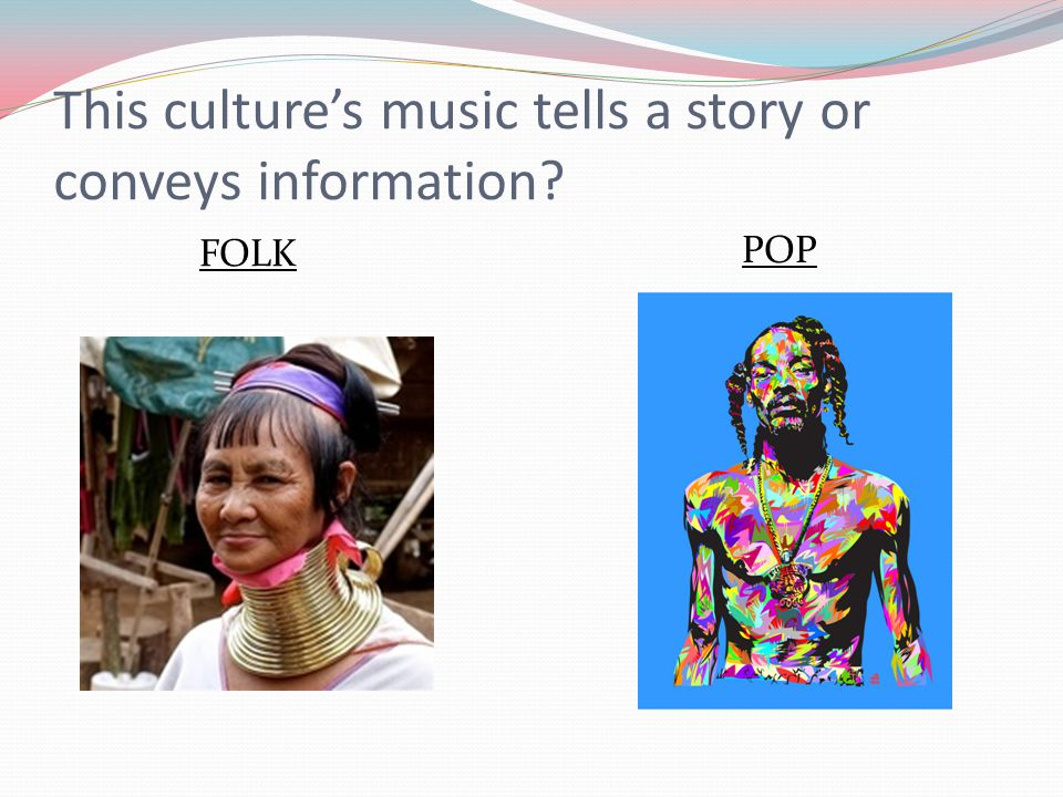 This culture's music tells a story or conveys information