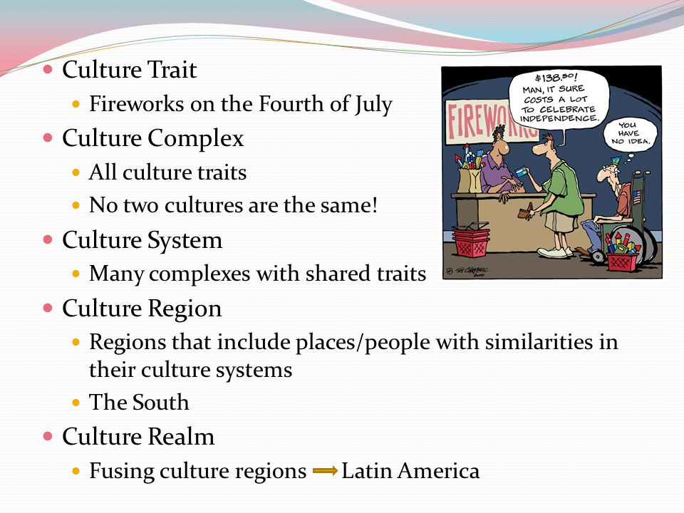 Culture Trait Culture Complex Culture System Culture Region