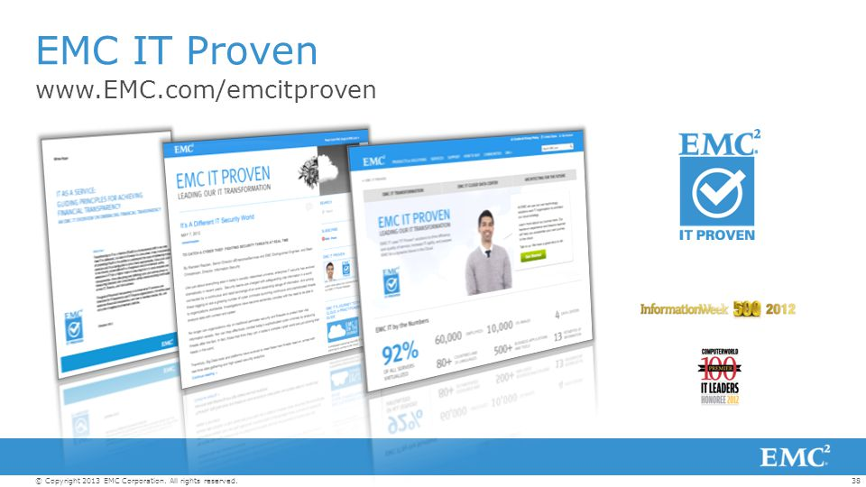 EMC IT Proven www.EMC.com/emcitproven