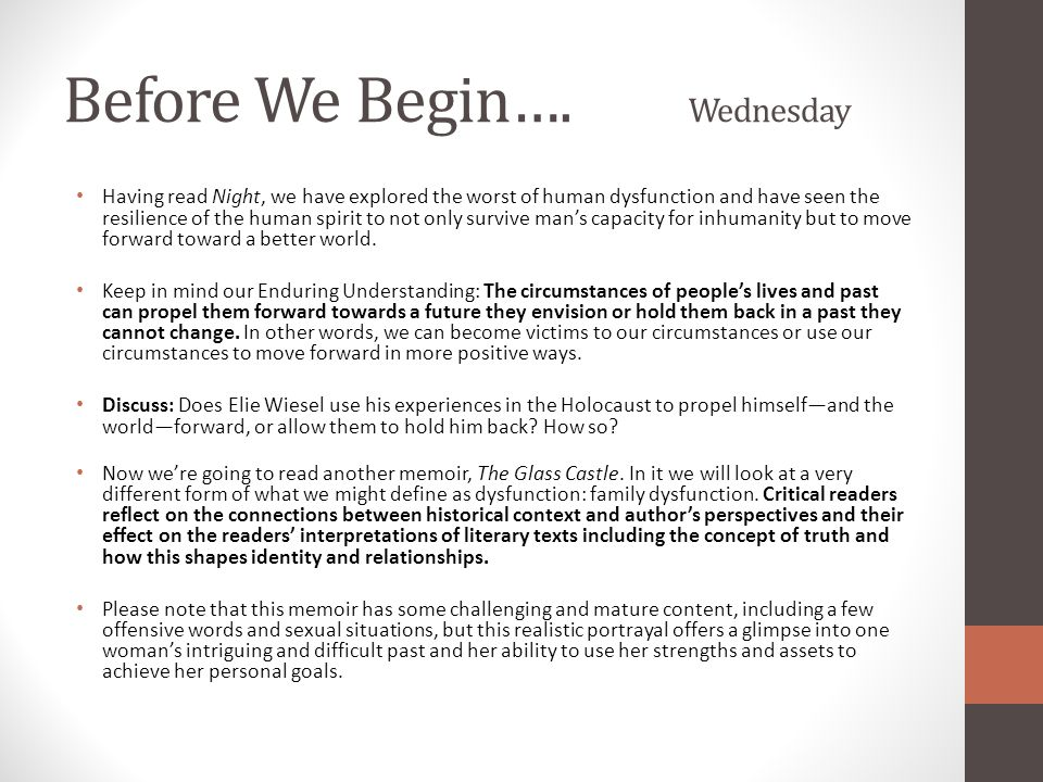Before We Begin…. Wednesday