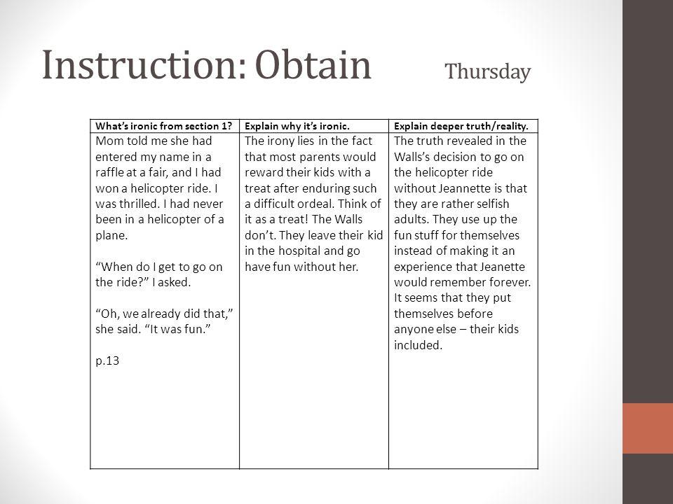 Instruction: Obtain Thursday