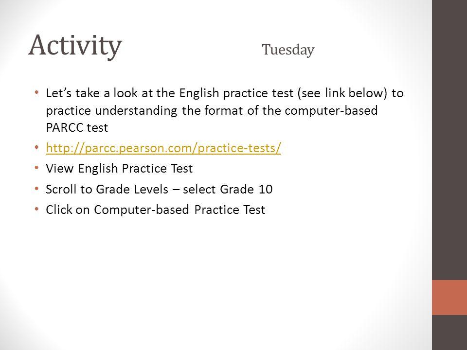 Activity Tuesday