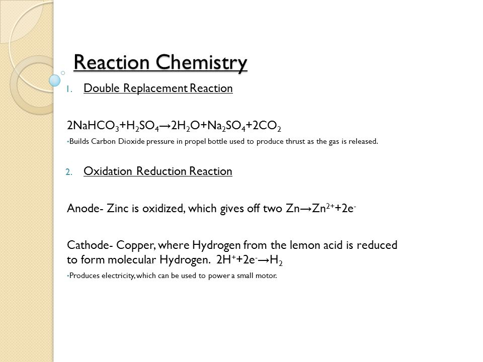 Reaction Chemistry Double Replacement Reaction