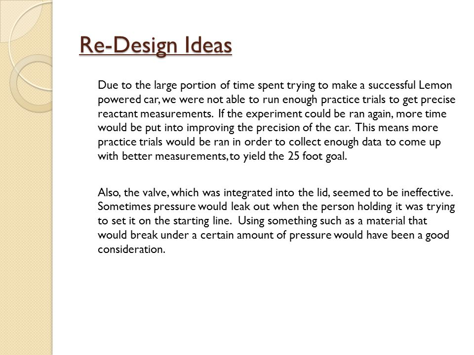 Re-Design Ideas