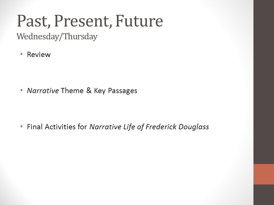 Past, Present, Future Wednesday/Thursday