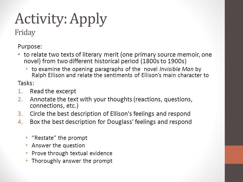 Activity: Apply Friday