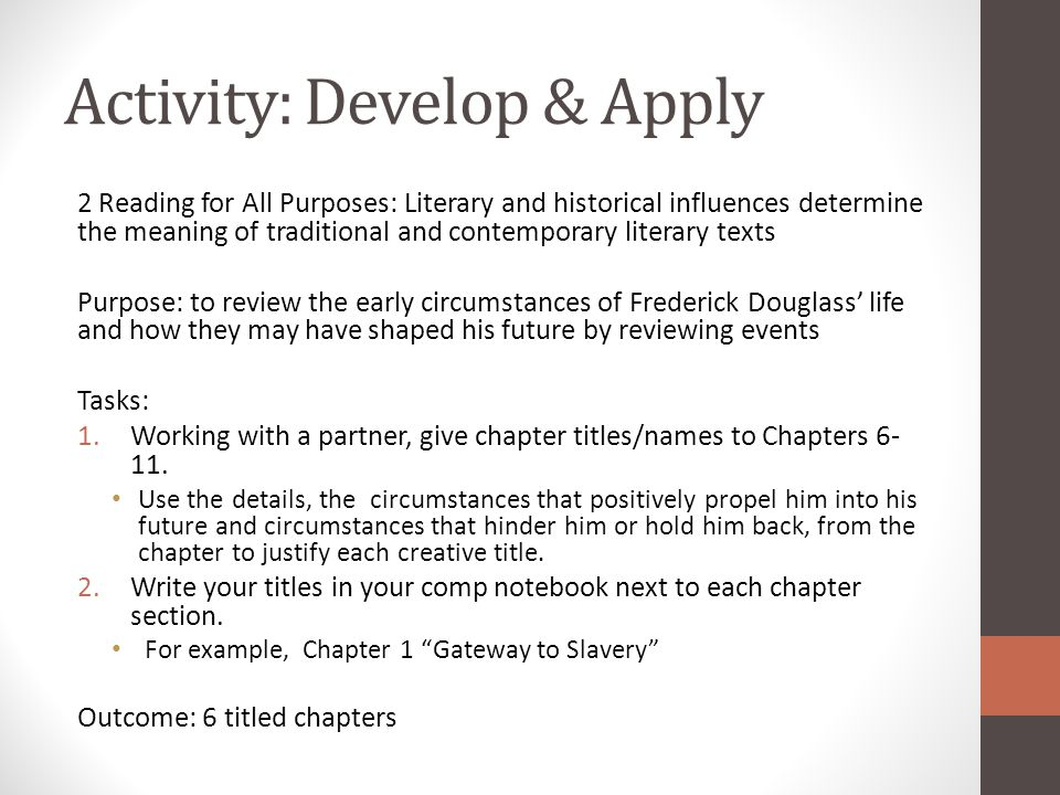 Activity: Develop & Apply