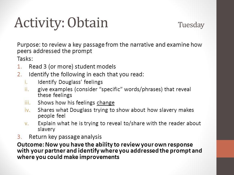 Activity: Obtain Tuesday
