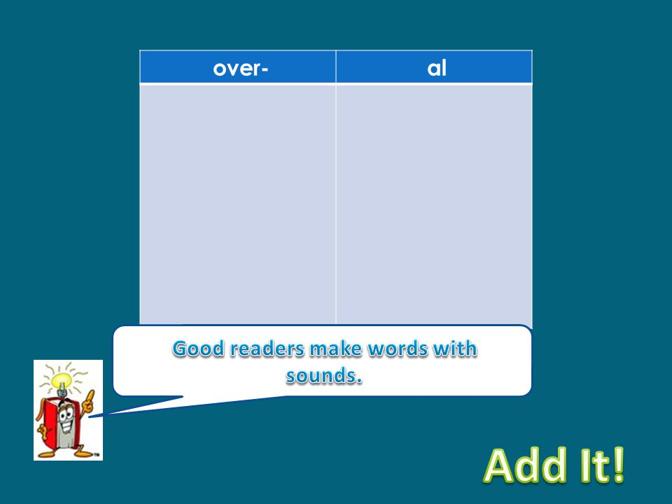 Good readers make words with sounds.