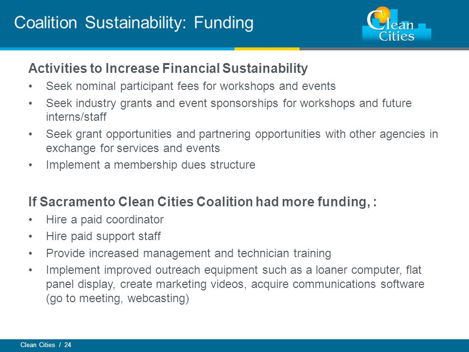Coalition Sustainability: Funding