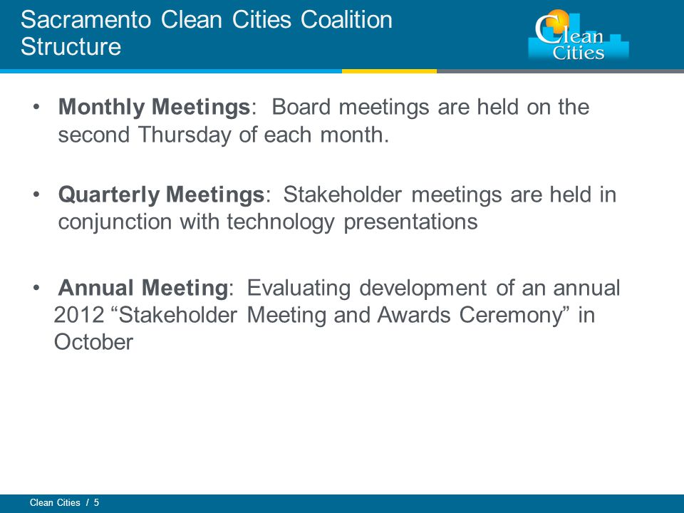 Sacramento Clean Cities Coalition Structure