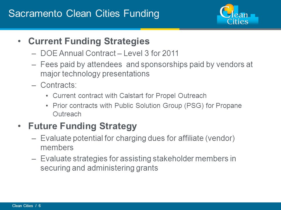 Sacramento Clean Cities Funding