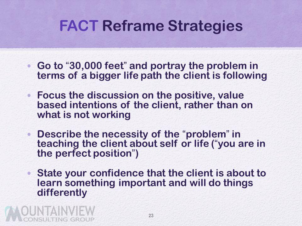 FACT Reframe Strategies