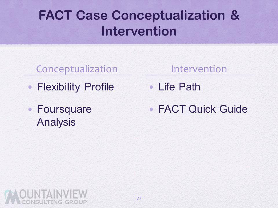 FACT Case Conceptualization & Intervention