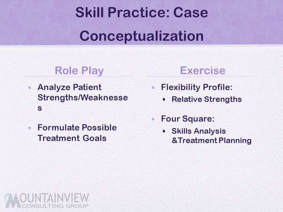 Skill Practice: Case Conceptualization