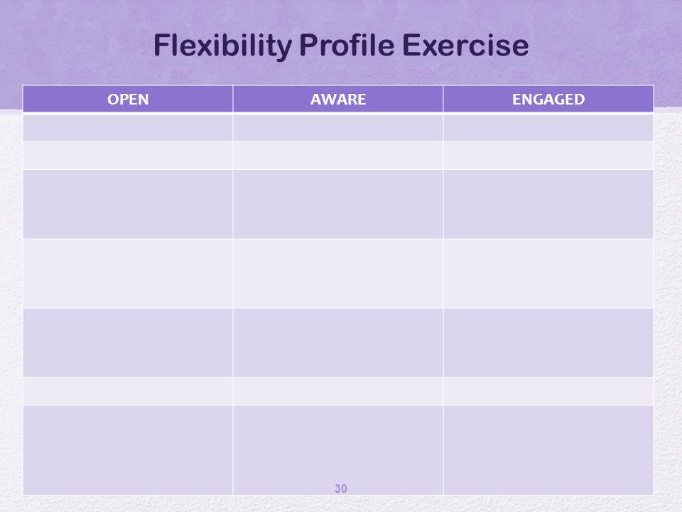 Flexibility Profile Exercise