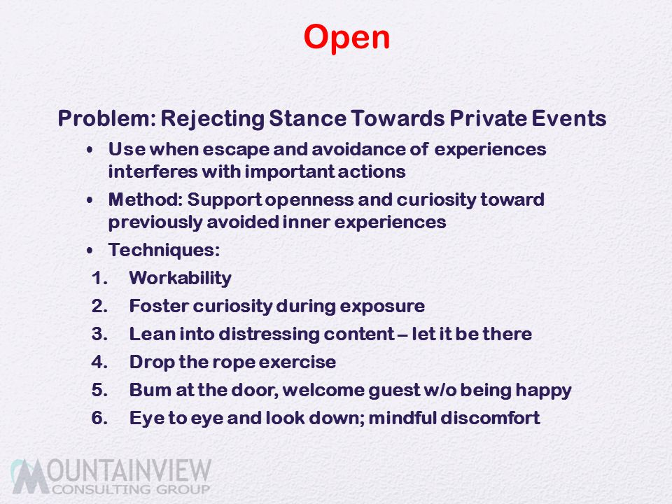 Open Problem: Rejecting Stance Towards Private Events