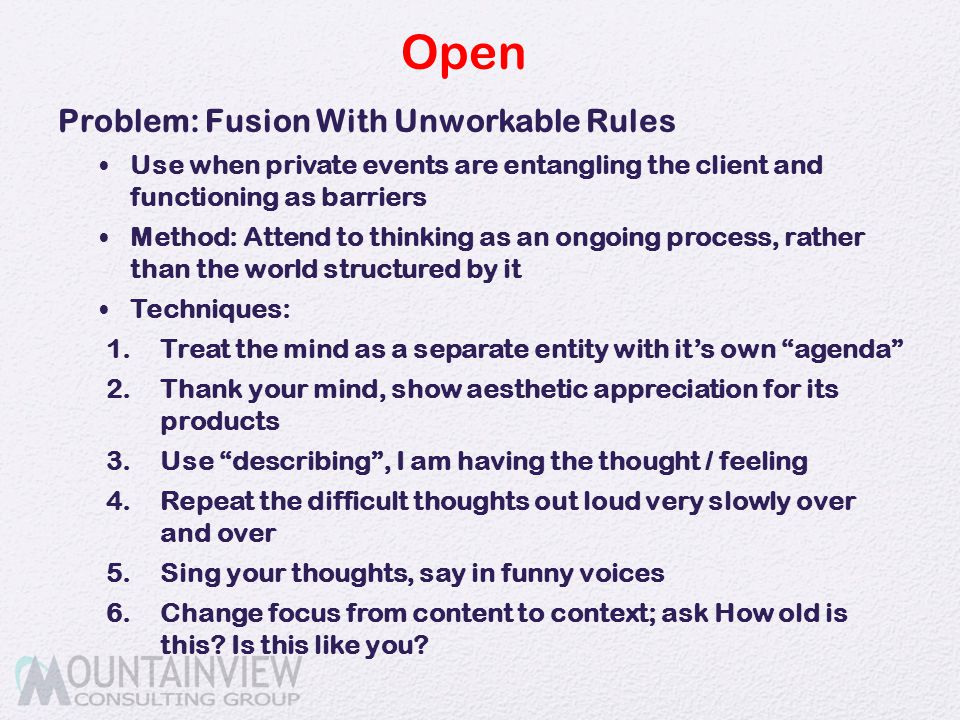 Open Problem: Fusion With Unworkable Rules