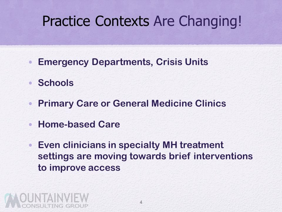 Practice Contexts Are Changing!