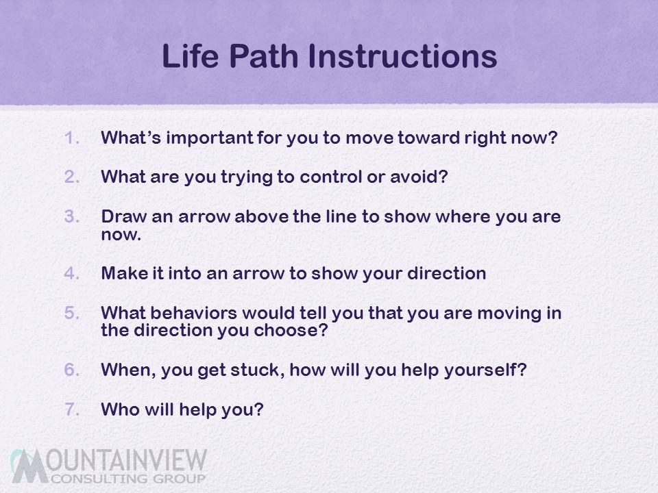 Life Path Instructions