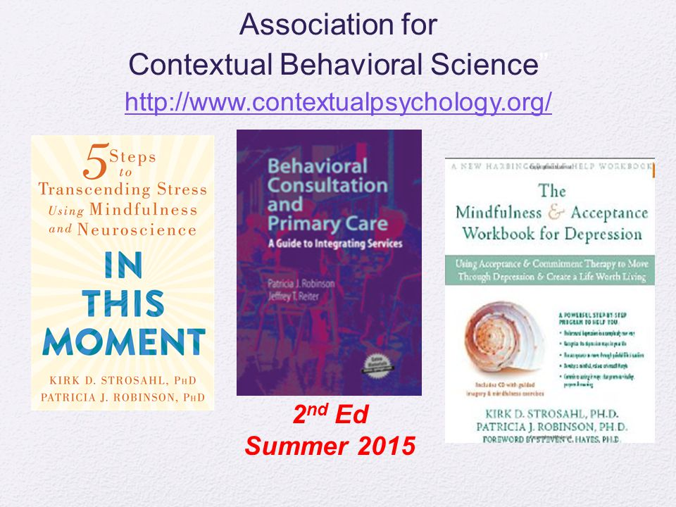 Association for Contextual Behavioral Science http://www