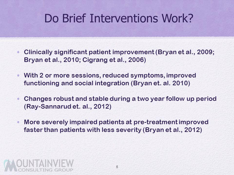 Do Brief Interventions Work