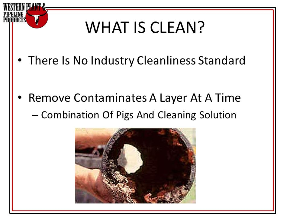 WHAT IS CLEAN There Is No Industry Cleanliness Standard
