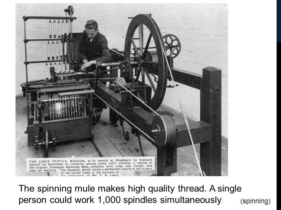 The spinning mule makes high quality thread
