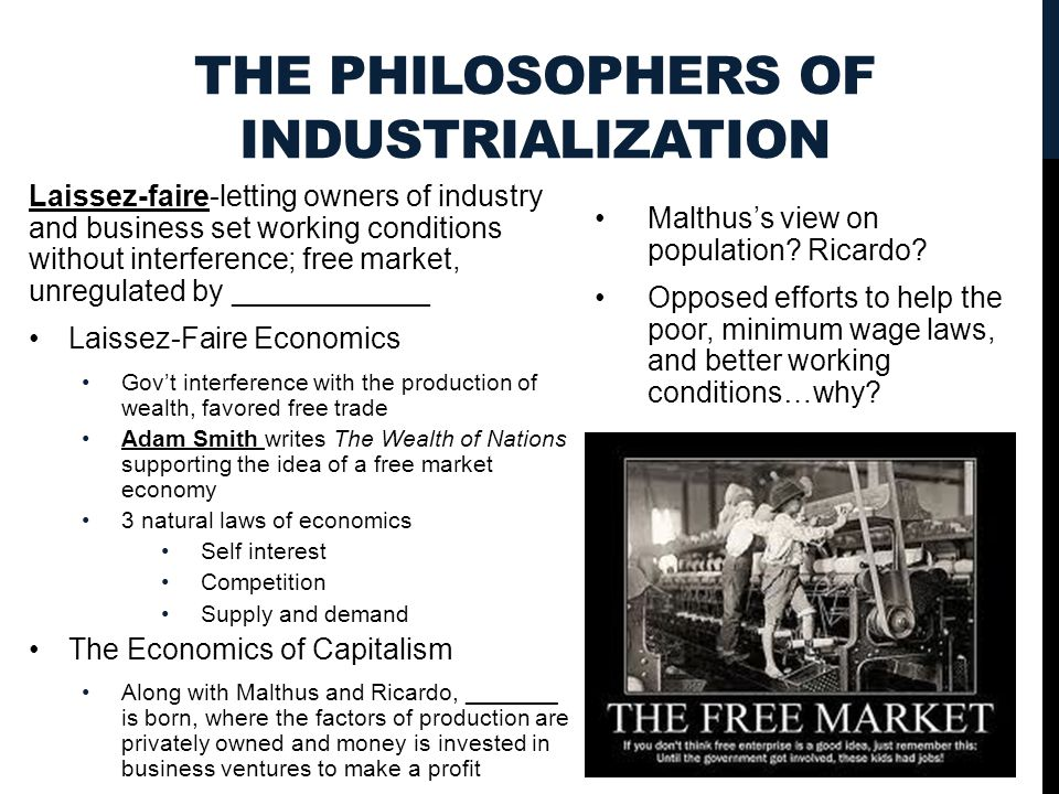 The Philosophers of Industrialization
