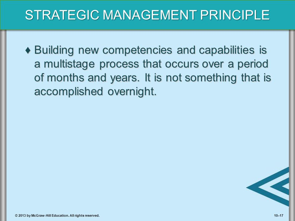 Building new competencies and capabilities is a multistage process that occurs over a period of months and years.