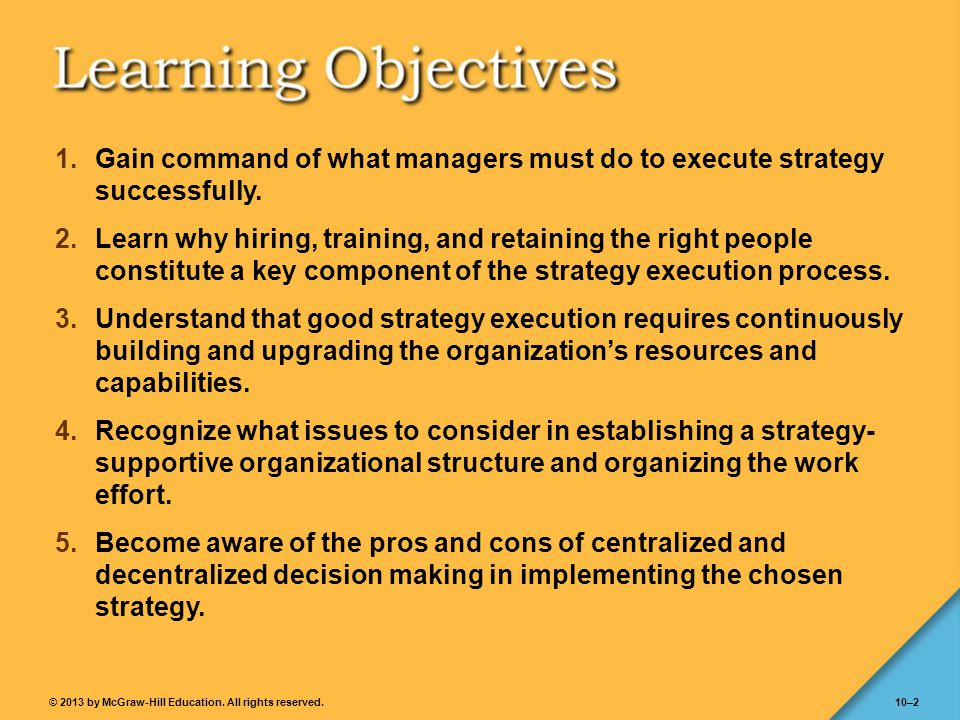Gain command of what managers must do to execute strategy successfully.