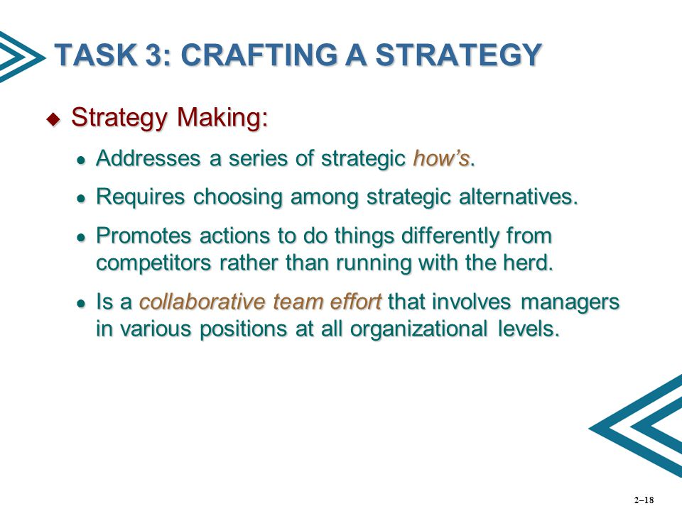 TASK 3: CRAFTING A STRATEGY