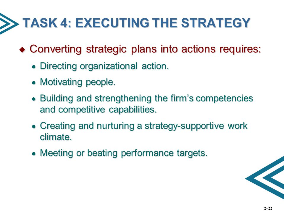 TASK 4: EXECUTING THE STRATEGY