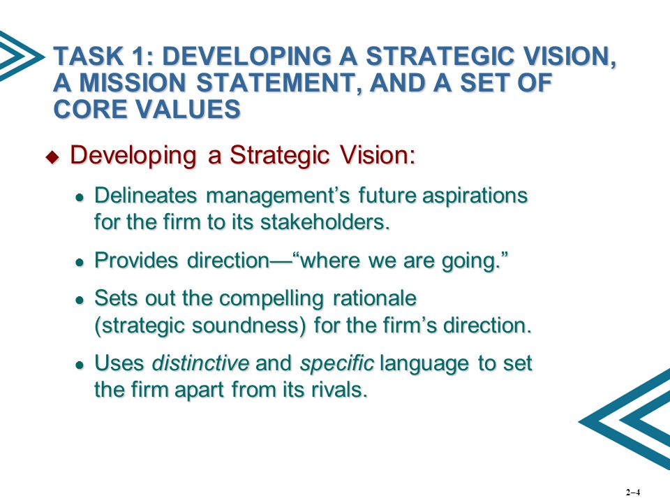 Developing a Strategic Vision: