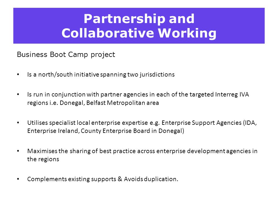 Partnership and Collaborative Working
