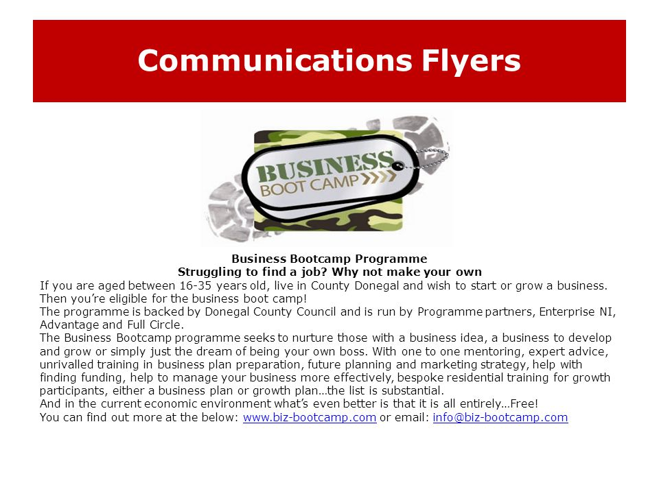 Communications Flyers