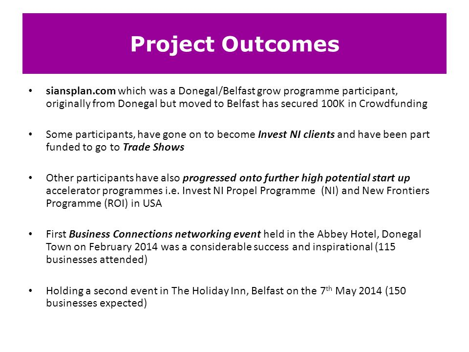 Project Outcomes