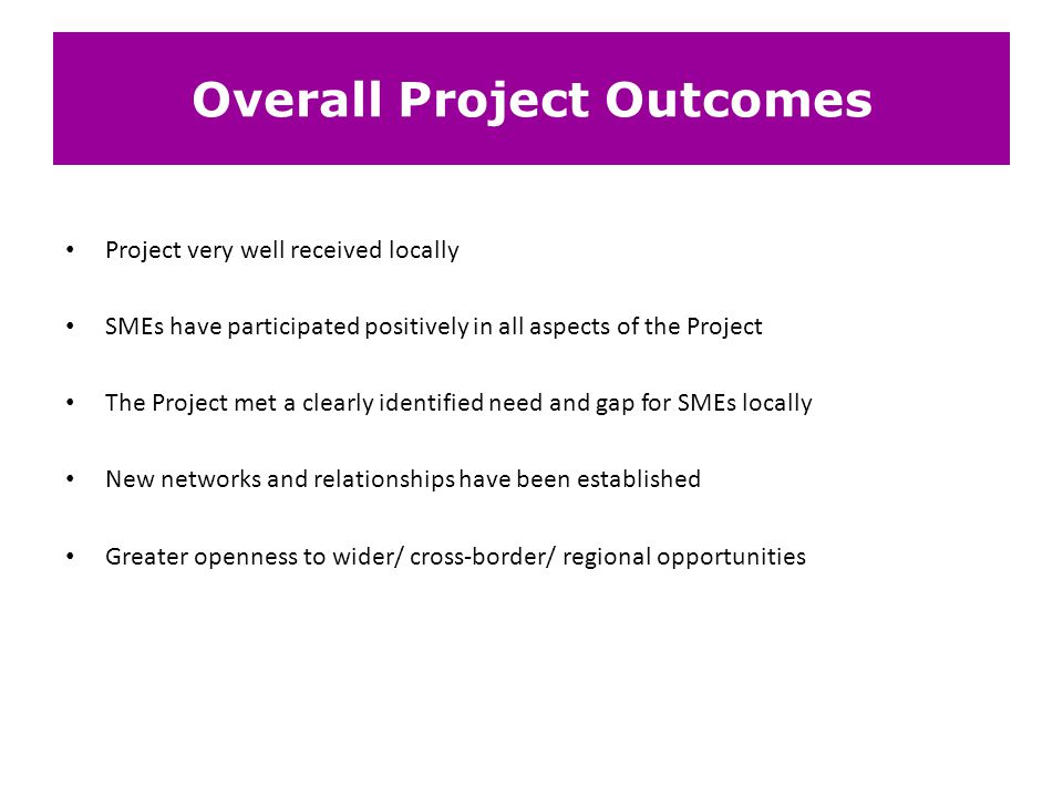 Overall Project Outcomes