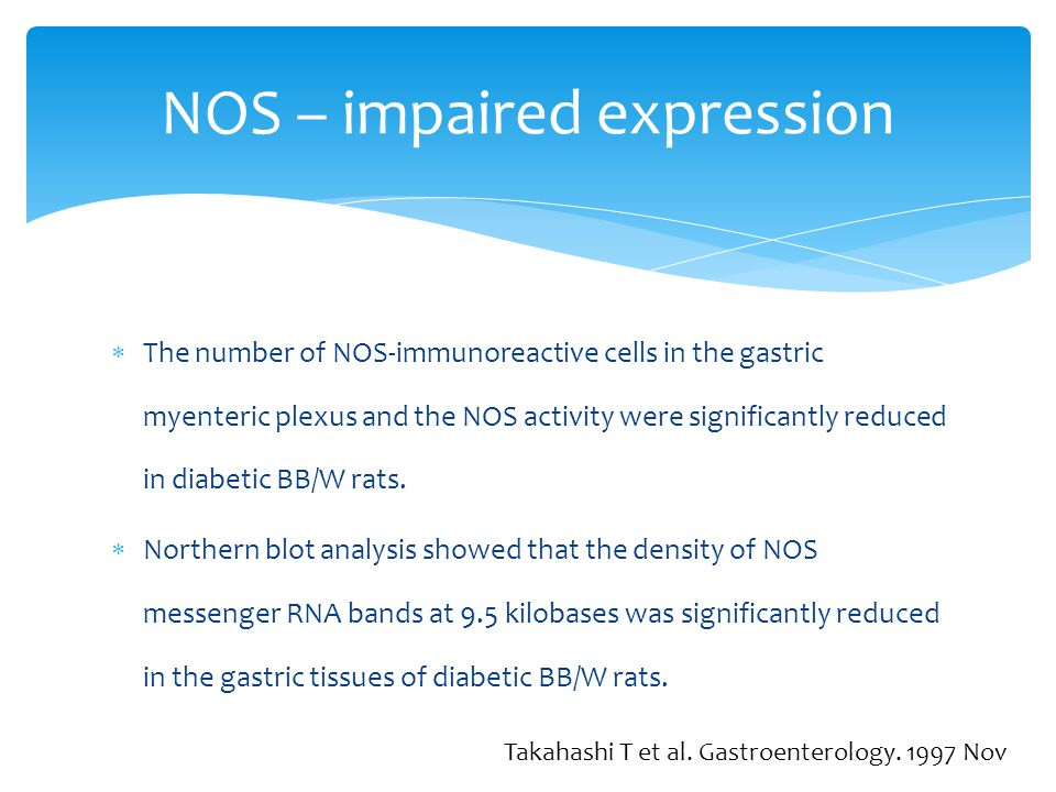 NOS – impaired expression