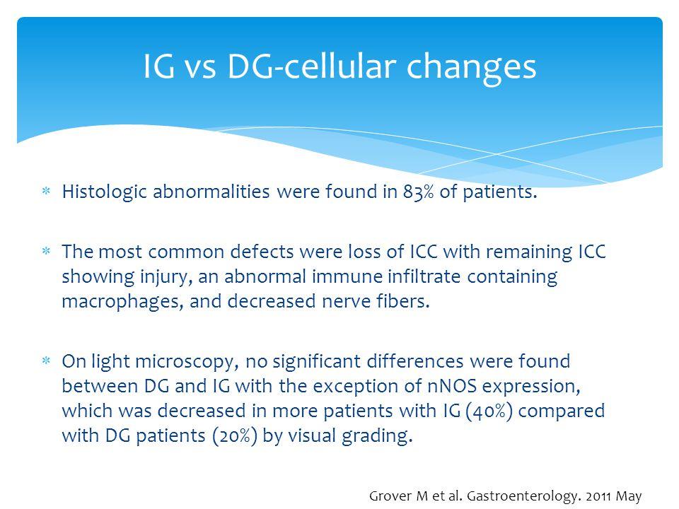IG vs DG-cellular changes