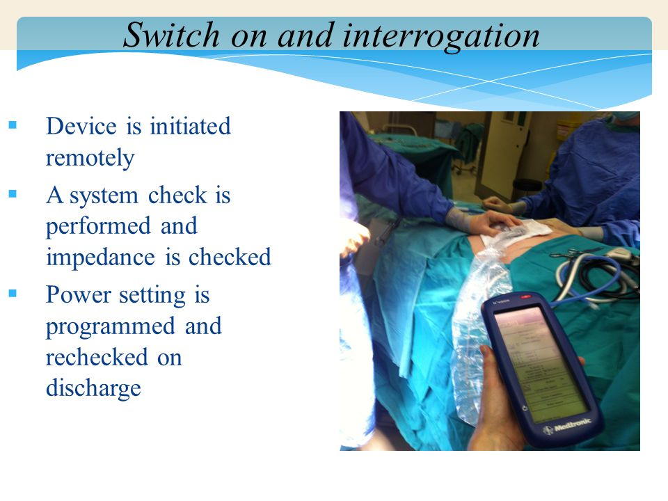 Switch on and interrogation