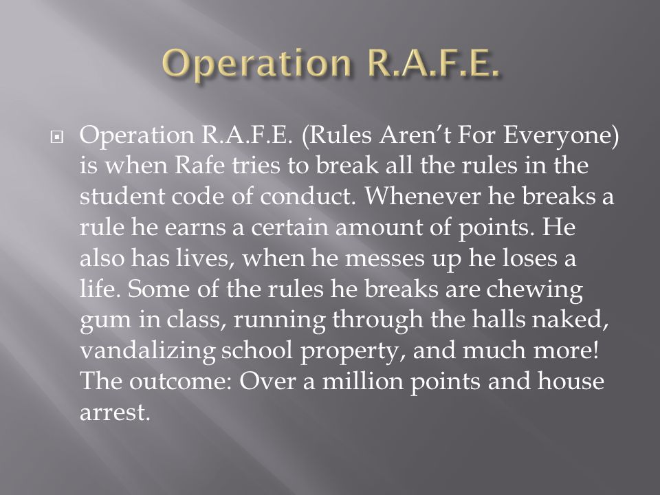 Operation R.A.F.E.