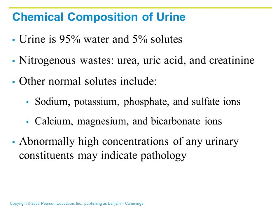 Chemical Composition of Urine