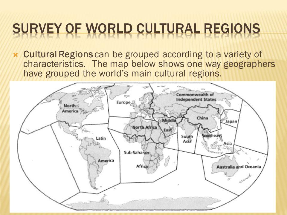 Survey of World Cultural Regions