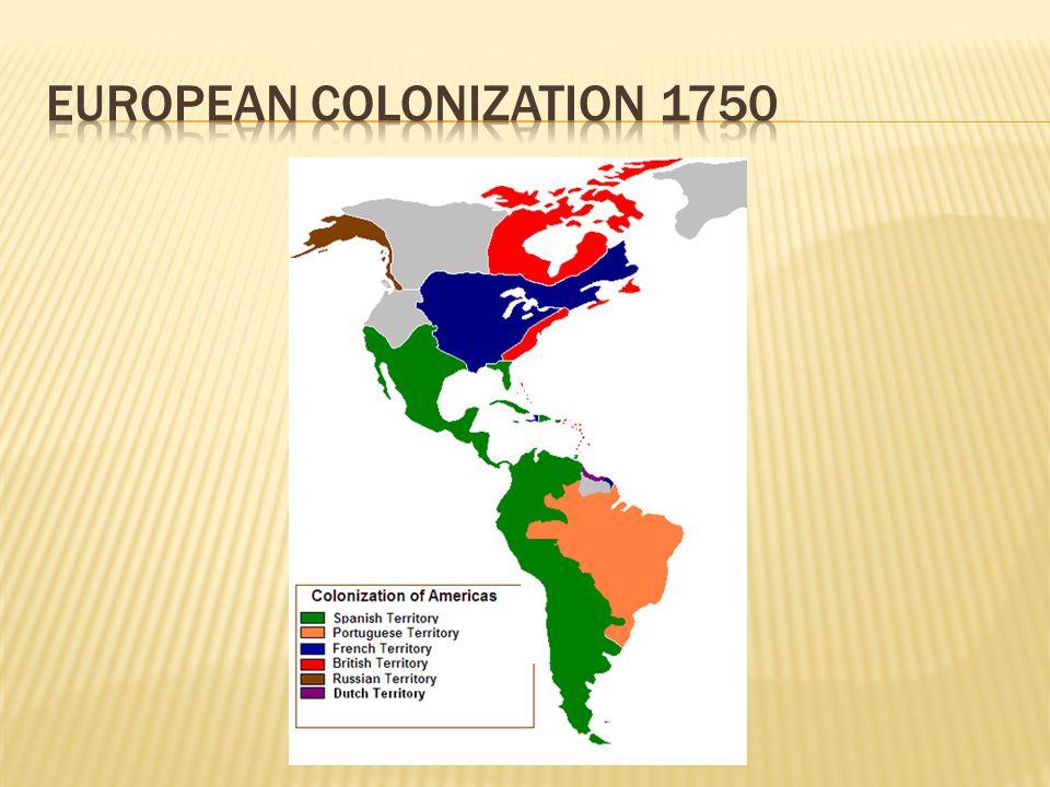 European colonization 1750